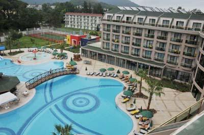 Туры в Турцию. Отель Eldar Resort 4 (Элдар Ресорт 4) в Кемере, территория